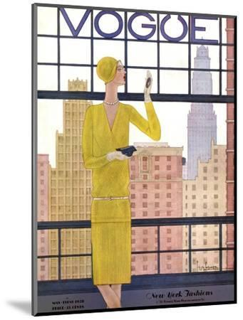 Vogue Cover - May 1928 - City View-Georges Lepape-Mounted Premium Giclee Print