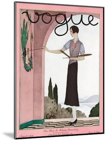 Vogue Cover - August 1929-Andr? E. Marty-Mounted Premium Giclee Print