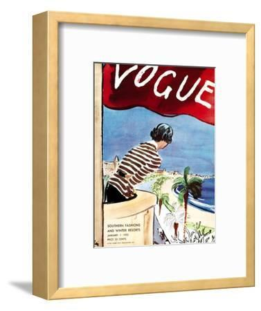 "Vogue Cover - January 1932-Carl ""Eric"" Erickson-Framed Premium Giclee Print"