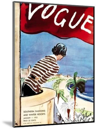 "Vogue Cover - January 1932-Carl ""Eric"" Erickson-Mounted Premium Giclee Print"