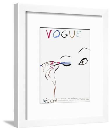 """Vogue Cover - February 1935 - All Dolled Up-Carl """"Eric"""" Erickson-Framed Premium Giclee Print"""