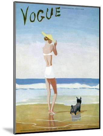 Vogue Cover - July 1937 - Beach Walk-Eduardo Garcia Benito-Mounted Premium Giclee Print