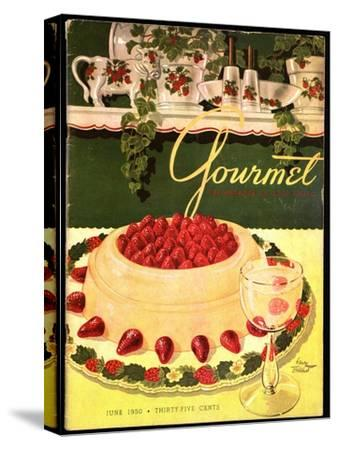 Gourmet Cover - June 1950-Henry Stahlhut-Stretched Canvas Print
