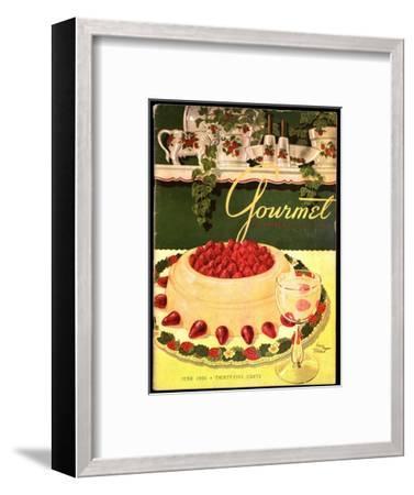 Gourmet Cover - June 1950-Henry Stahlhut-Framed Premium Giclee Print