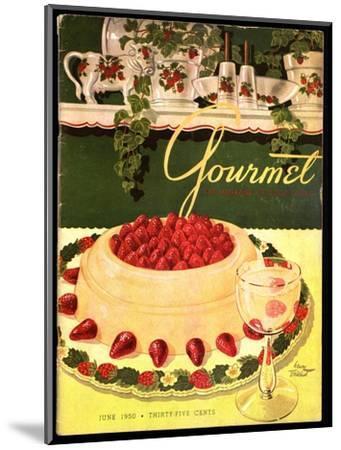 Gourmet Cover - June 1950-Henry Stahlhut-Mounted Premium Giclee Print