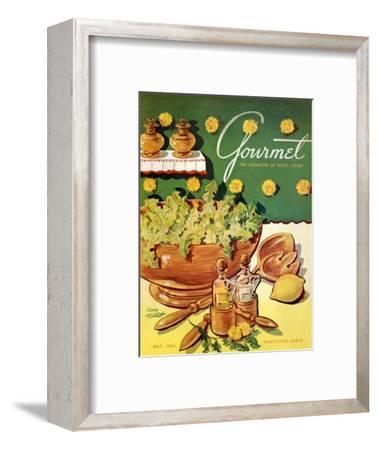 Gourmet Cover - May 1952-Henry Stahlhut-Framed Premium Giclee Print