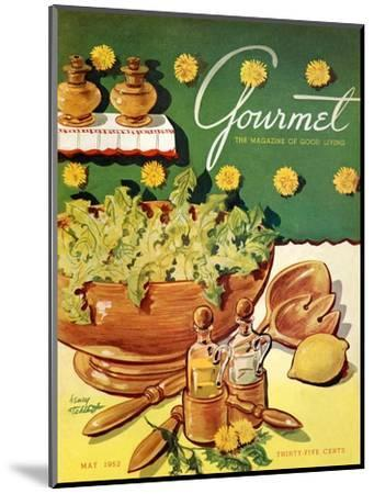 Gourmet Cover - May 1952-Henry Stahlhut-Mounted Premium Giclee Print