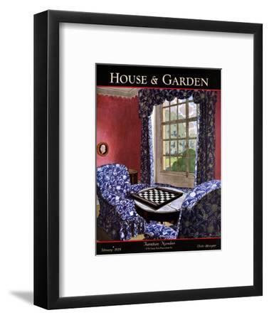 House & Garden Cover - February 1929-Pierre Brissaud-Framed Premium Giclee Print
