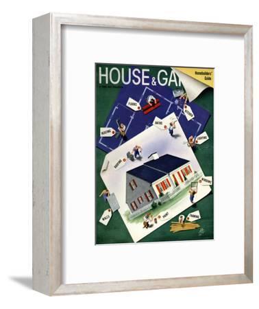 House & Garden Cover - March 1940-Garretto-Framed Premium Giclee Print