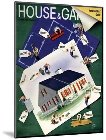 House & Garden Cover - March 1940-Garretto-Mounted Premium Giclee Print