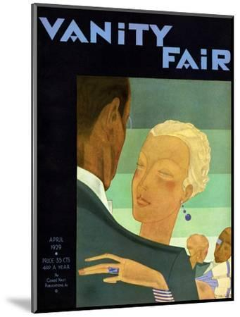 Vanity Fair Cover - April 1929-Jean Pag?s-Mounted Premium Giclee Print
