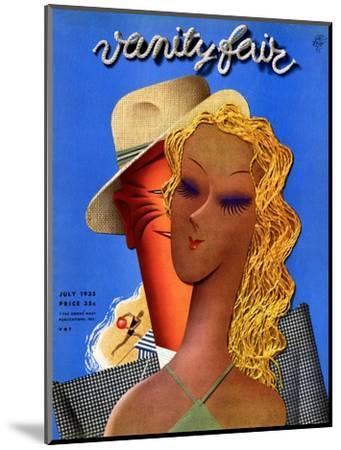 Vanity Fair Cover - July 1935-Garretto-Mounted Premium Giclee Print