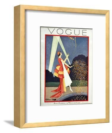 Vogue Cover - May 1926-George Wolfe Plank-Framed Premium Giclee Print