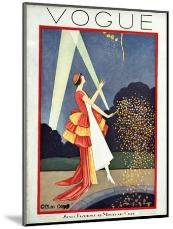 Vogue Cover - May 1926-George Wolfe Plank-Mounted Premium Giclee Print