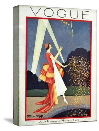 Vogue Cover - May 1926-George Wolfe Plank-Stretched Canvas Print