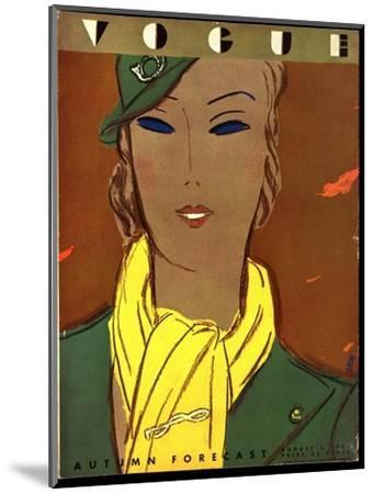Vogue Cover - August 1933-Eduardo Garcia Benito-Mounted Premium Giclee Print