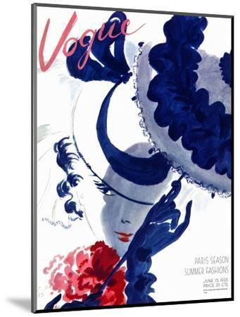 Vogue Cover - June 1935 - Paris Parasol-Jean Pag?s-Mounted Premium Giclee Print