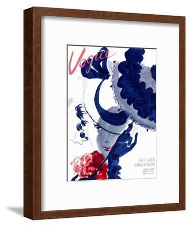Vogue Cover - June 1935 - Paris Parasol-Jean Pag?s-Framed Premium Giclee Print