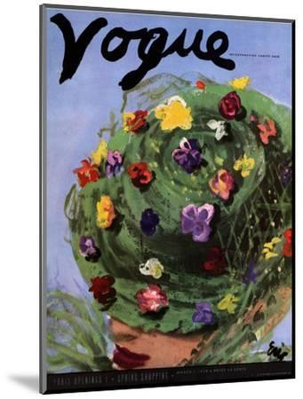 "Vogue Cover - March 1939-Carl ""Eric"" Erickson-Mounted Premium Giclee Print"