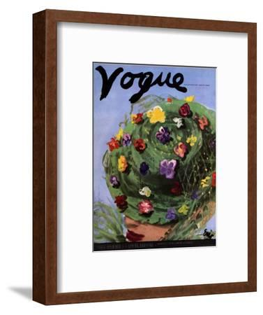 "Vogue Cover - March 1939-Carl ""Eric"" Erickson-Framed Premium Giclee Print"
