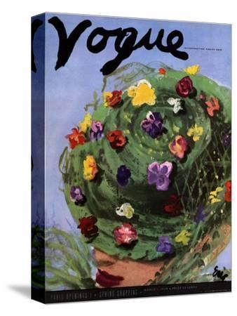 "Vogue Cover - March 1939-Carl ""Eric"" Erickson-Stretched Canvas Print"