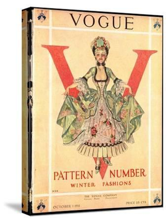 Vogue Cover - October 1911-Frank X. Leyendecker-Stretched Canvas Print