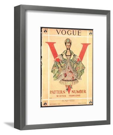 Vogue Cover - October 1911-Frank X. Leyendecker-Framed Premium Giclee Print