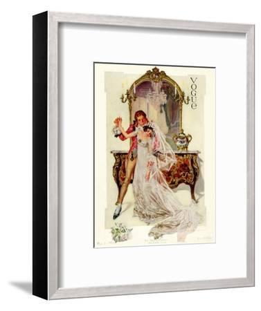 Vogue Cover - May 1912-Frank X. Leyendecker-Framed Premium Giclee Print