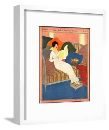 Vogue Cover - February 1913-Helen Dryden-Framed Premium Giclee Print