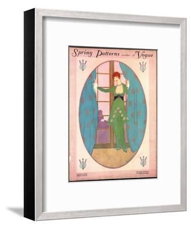 Vogue Cover - March 1913-Helen Dryden-Framed Premium Giclee Print
