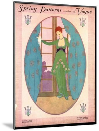 Vogue Cover - March 1913-Helen Dryden-Mounted Premium Giclee Print