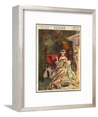 Vogue Cover - March 1913-Frank X. Leyendecker-Framed Premium Giclee Print
