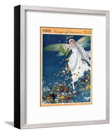 Vogue Cover - May 1913-George Wolfe Plank-Framed Premium Giclee Print
