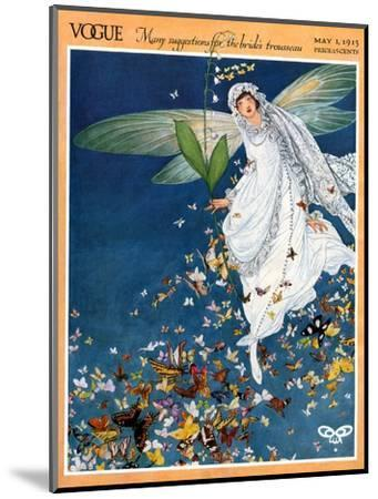 Vogue Cover - May 1913-George Wolfe Plank-Mounted Premium Giclee Print