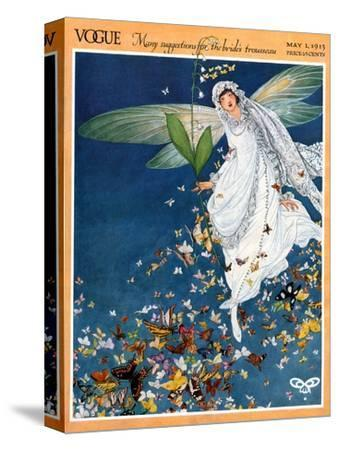 Vogue Cover - May 1913-George Wolfe Plank-Stretched Canvas Print