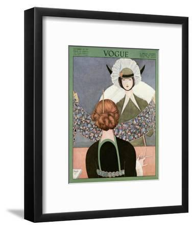 Vogue Cover - October 1913-George Wolfe Plank-Framed Premium Giclee Print