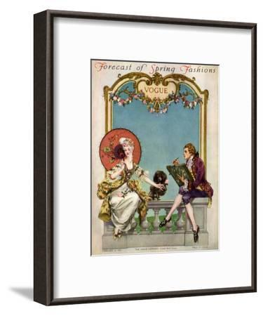 Vogue Cover - February 1914-Frank X. Leyendecker-Framed Premium Giclee Print