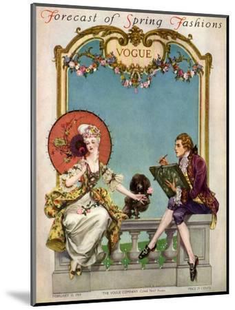 Vogue Cover - February 1914-Frank X. Leyendecker-Mounted Premium Giclee Print