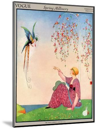 Vogue Cover - March 1914-George Wolfe Plank-Mounted Premium Giclee Print