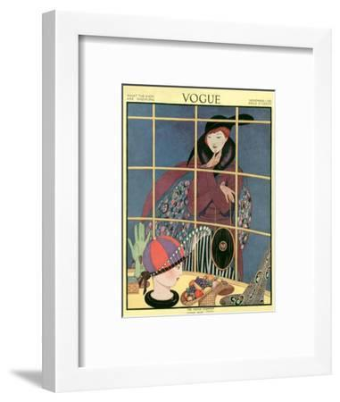 Vogue Cover - November 1914-George Wolfe Plank-Framed Premium Giclee Print