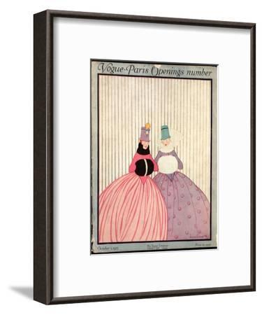Vogue Cover - October 1915-Irma Campbell-Framed Premium Giclee Print