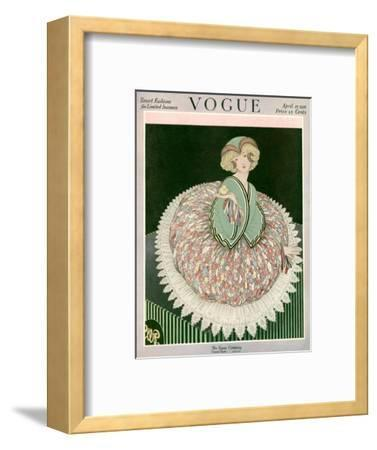 Vogue Cover - April 1916-George Wolfe Plank-Framed Premium Giclee Print