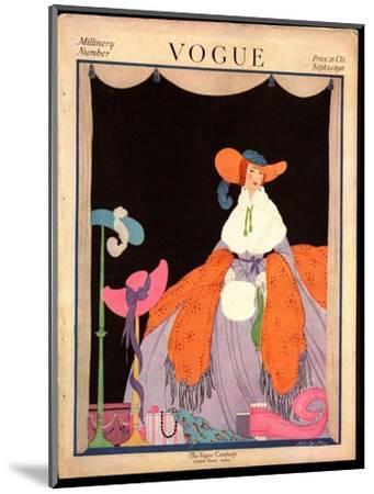Vogue Cover - September 1916-Helen Dryden-Mounted Premium Giclee Print