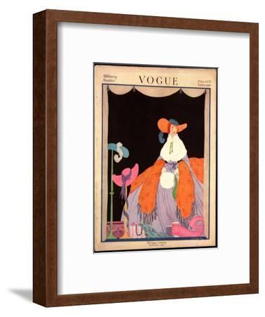 Vogue Cover - September 1916-Helen Dryden-Framed Premium Giclee Print