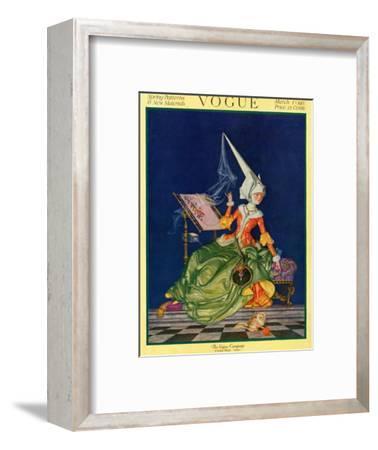 Vogue Cover - March 1917-Frank X. Leyendecker-Framed Premium Giclee Print