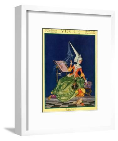 Vogue Cover - March 1917-F^x^ Leyendecker-Framed Premium Giclee Print