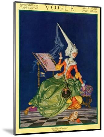 Vogue Cover - March 1917-F^x^ Leyendecker-Mounted Premium Giclee Print