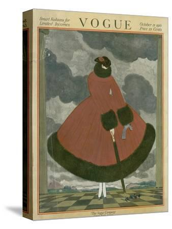 Vogue Cover - October 1917-Georges Lepape-Stretched Canvas Print