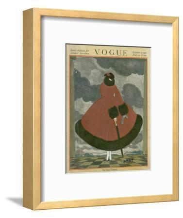 Vogue Cover - October 1917-Georges Lepape-Framed Premium Giclee Print