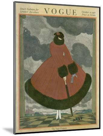 Vogue Cover - October 1917-Georges Lepape-Mounted Premium Giclee Print